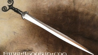 Celtic sword decorated