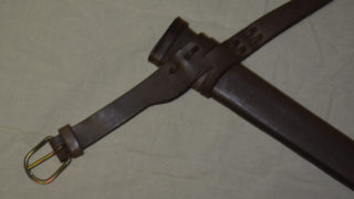 Scabbard for 1-h. sword with belt