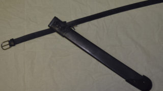Scabbard for falchion with belt