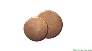 copper blank coin