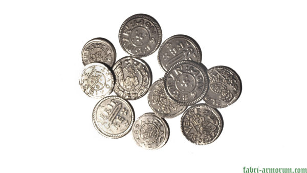 silver coins 20 mm