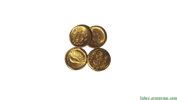 Gold coin 15 mm