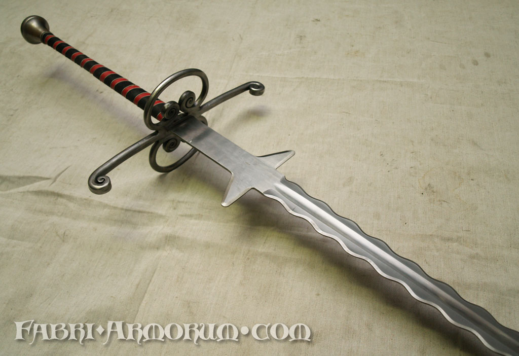 Flamberge two-handed sword