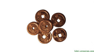copper coin 20 mm