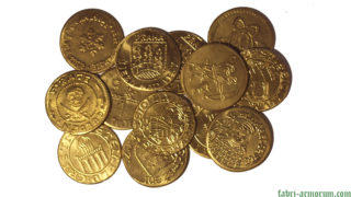 gold coin 30 mm
